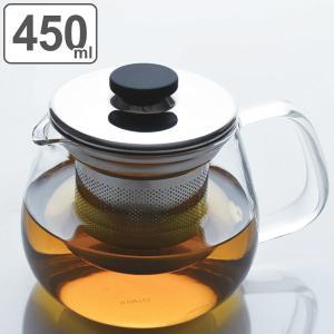 キントー KINTO ティーポット UNITEA ユニティ S 500ml ステンレス ( 紅茶ポット 急須 ガラスポット ポット ガラス 食洗機対応 茶こし付  )|livingut