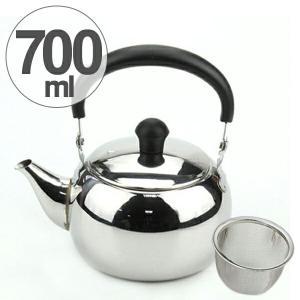 急須 ほの茶 700ml つる付き急須 ステンレス製 茶漉し付き ( ティーポット 和食器 0.7L 取っ手付き )|livingut