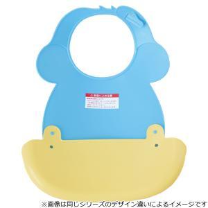 c38325ed6fb21 ... ベビーエプロン スティッチ ビブ ポケット付き プラスチック ( お食事エプロン ベビースタイ ベビー 赤ちゃん )