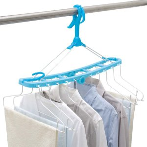 洗濯ハンガー ML2 ワイヤー10連ハンガー 衣類干しハンガー ( シャツハンガー ブラウス Y シャツ 物干し 衣類干し )|livingut