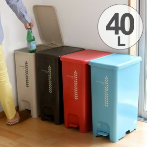 ゴミ箱 ふた付き ペダルペール 40L  ( ごみ箱 ダストボックス ダストBOX )|livingut