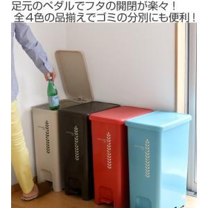ゴミ箱 ふた付き ペダルペール 40L  ( ごみ箱 ダストボックス ダストBOX )|livingut|02