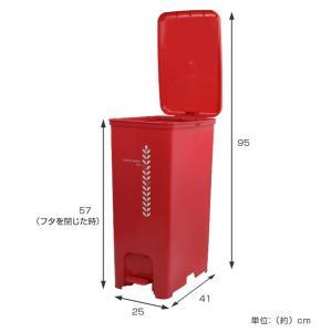 ゴミ箱 ふた付き ペダルペール 40L  ( ごみ箱 ダストボックス ダストBOX )|livingut|04