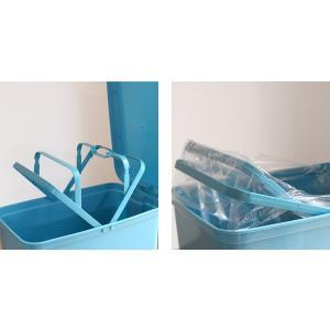 ゴミ箱 ふた付き ペダルペール 40L  ( ごみ箱 ダストボックス ダストBOX )|livingut|05