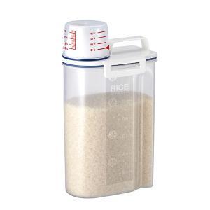 米びつ 密閉米びつ 2kg 計量カップ付き ( ライスボックス 米櫃 こめびつ )|livingut|06