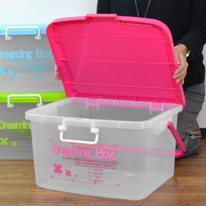 収納ケース ドリーミングボックス 幅45.8×奥行38.5×高さ25.5cm Lサイズ フタ付き 持ち手付き ( 収納ボックス おもちゃ箱 収納 プラスチック )|livingut|06