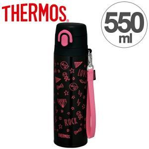 水筒 サーモス thermos 真空断熱ケータイマグ 直飲み 550ml JNT-550 ブラックピンク ( 軽量 スリム ステンレスボトル マグボトル 魔法瓶 )