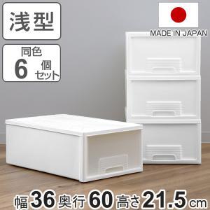 収納ケース 押入れ収納 FT 引き出し プラスチック 6個セット ( 収納ボックス 収納 衣装ケース クローゼット収納 )|livingut