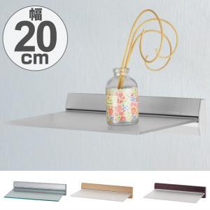 スリムシェルフ アクリル板 飾り棚 ディスプレイ棚 幅20cm ( ウォールラック 壁面ラック 棚 壁掛け 壁面 )|livingut