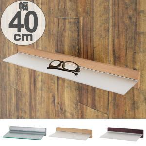 スリムシェルフ アクリル板 飾り棚 ディスプレイ棚 幅40cm ( ウォールラック 壁面ラック 棚 壁掛け 壁面 )|livingut