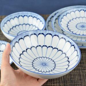 ボウル 17cm 美濃焼 洋食器 大輪菊 ( 食器 陶器 皿 中鉢 お皿 )|livingut|05