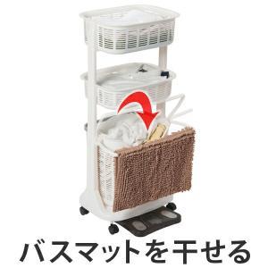 使い勝手の良いセパレートタイプのランドリーバスケットです。少し深さのある上段かごには普段よく使う洗濯...