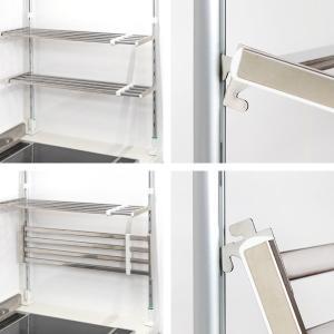 つっぱり棚 2段 伸縮式 幅50〜90cm ステンレス製 水切り棚 組立式 ( 水切りラック 突っ張り棚 ツッパリ棚 )|livingut|05