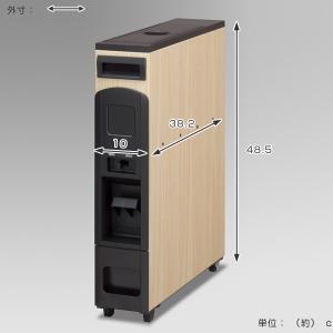 米びつ スリムライスボックス 6kg キャスター付き 無洗米対応 ライト木目 ( 米櫃 ライスボックス ライスストッカー マッキンリー ) livingut 02