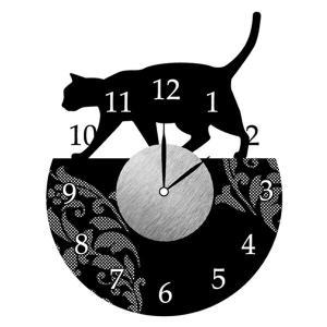 ウォールクロックステッカー ウォールステッカー 時計 猫 おさんぽ Wall Clock Sticker