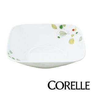 ボウル 23cm コレール CORELLE スクエア 白 食器 皿 角皿 グリーンブリーズ ( 食洗機対応 ホワイト 電子レンジ対応 お皿 オーブン対応 白い )|livingut