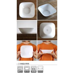 ボウル 23cm コレール CORELLE スクエア 白 食器 皿 角皿 グリーンブリーズ ( 食洗機対応 ホワイト 電子レンジ対応 お皿 オーブン対応 白い )|livingut|03