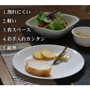ボウル 23cm コレール CORELLE スクエア 白 食器 皿 角皿 グリーンブリーズ ( 食洗機対応 ホワイト 電子レンジ対応 お皿 オーブン対応 白い )|livingut|04