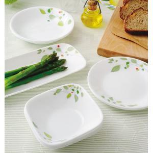 ボウル 23cm コレール CORELLE スクエア 白 食器 皿 角皿 グリーンブリーズ ( 食洗機対応 ホワイト 電子レンジ対応 お皿 オーブン対応 白い )|livingut|07