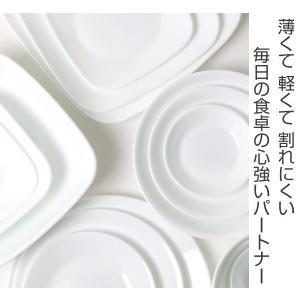 プレート 17cm コレール CORELLE スクエア 白 食器 皿 角皿 ウインターフロスト ( 食洗機対応 ホワイト 電子レンジ対応 お皿 オーブン対応 白い )|livingut|02