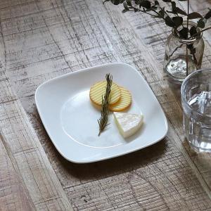 プレート 17cm コレール CORELLE スクエア 白 食器 皿 角皿 ウインターフロスト ( 食洗機対応 ホワイト 電子レンジ対応 お皿 オーブン対応 白い )|livingut|06