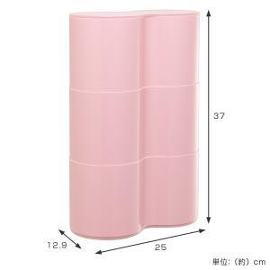 トイレットペーパー収納 トイレットペーパーBOX Pise 3段 ( ボックス ラック ペーパー収納 トイレ収納 ピセ )|livingut|05