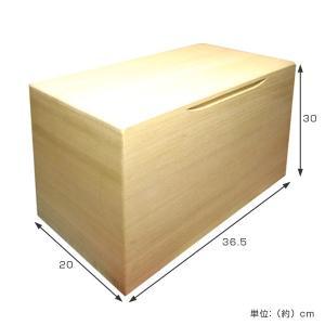 米びつ 桐製 10kg 無地 ( 米櫃 ライスボックス ライスストッカー 10kg用 10キロ )|livingut|02