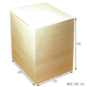 米びつ 桐製 30kg 無地 ( 米櫃 ライスボックス ライスストッカー 30kg用 30キロ ) livingut 02