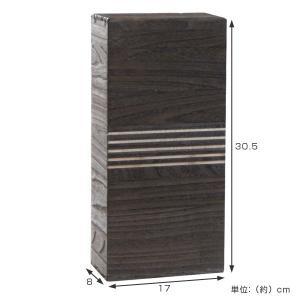 米びつ 桐製 2kg 冷蔵庫用 焼桐 ( 米櫃 ライスボックス ライスストッカー 2kg用 2キロ )|livingut|02