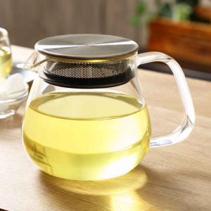 キントー KINTO ティーポット UNITEA ユニティ 460ml ワンタッチティーポット 耐熱ガラス製 ( 紅茶ポット 急須 ガラスポット ポット ガラス )|livingut