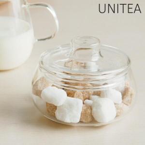 キントー KINTO シュガーポット UNITEA ユニティ ( 砂糖 シュガー ポット ガラス ミルク入れ コーヒー 紅茶  )|livingut