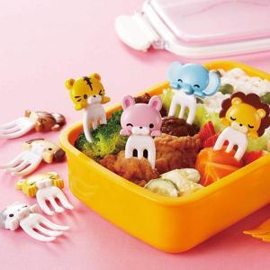 ピック お弁当 フォークピック カプッとアニマル 8本入り ( お弁当グッズ キャラ弁 動物 )|livingut