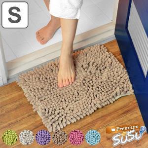 バスマット Premium SUSU(スウスウ・吸う吸う) Sサイズ 36×50cm 抗菌仕様 ( マイクロファイバー 風呂マット ドライバスマット )|livingut