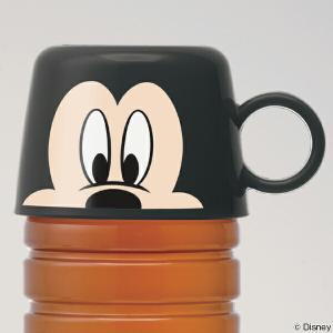 ペットボトルのキャップの上からはめるだけで、水筒に大変身するミッキーマウスのコップです。ペットボトル...
