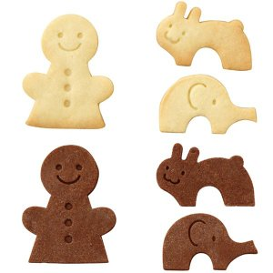 クッキー型 抜き型 ひと ゾウ ウサギ セット ( クッキー 型 抜型 クッキー抜型 一度に抜ける )|livingut|05