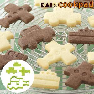 クッキー型 抜き型 ひこうき ふね くるま セット ( クッキー 型 抜型 クッキー抜型 一度に抜ける )|livingut