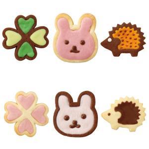 チョコクッキー型 抜き型 スタンプ ハリネズミ ウサギ クローバー ( チョコクッキー 型 抜型 クッキー抜型 チョコ デコスイーツ )|livingut|05