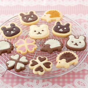 チョコクッキー型 抜き型 スタンプ ハリネズミ ウサギ クローバー ( チョコクッキー 型 抜型 クッキー抜型 チョコ デコスイーツ )|livingut|06