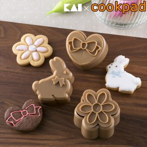 クッキー型 抜型 日本製 うさぎ ハート 花 スチロール樹脂 ( ご飯 サンドウィッチ 型抜き クッキー クッキー抜型 お菓子作り )|livingut