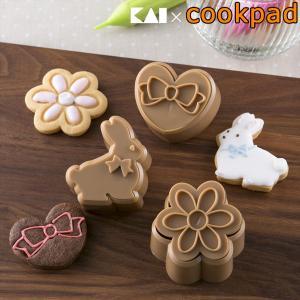 クッキー型 抜型 日本製 うさぎ ハート 花 スチロール樹脂