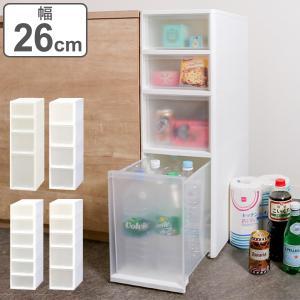 キッチン隙間収納 収納ストッカー LISE リセ ミドルストッカー 引き出しS+M 5段 キッチン収納 ( プラスチック製 ストッカー )の写真