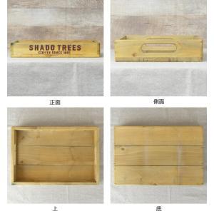 トレイ S 幅30×奥行20×高さ5cm 木製 トレー 角型 持ち手付き ( 木製トレー お盆 天然木 アンティーク )|livingut|03