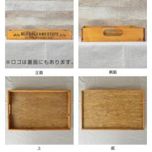トレイ L 幅49×奥行31×高さ6cm 木製 トレー 角型 持ち手付き ( 木製トレー お盆 天然木 アンティーク )|livingut|03