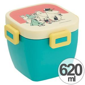 お弁当箱 4点ロック カフェ丼ランチボックス 2段 どんぶり型 ムーミン パレット 620ml