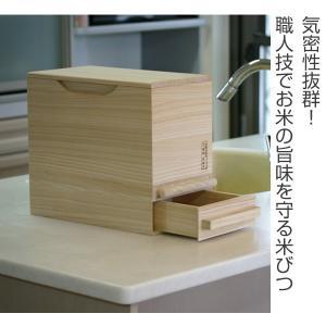 米びつ 桐製 5kg 1合計量 無地 ( 米櫃 ライスボックス ライスストッカー 5kg用 5キロ )|livingut|02