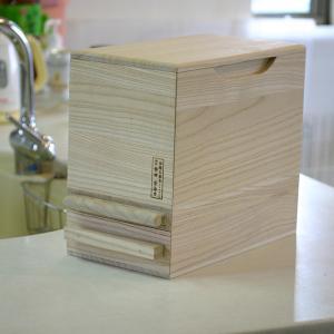 米びつ 桐製 5kg 1合計量 無地 ( 米櫃 ライスボックス ライスストッカー 5kg用 5キロ )|livingut|03