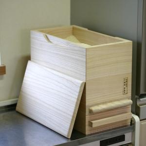 米びつ 桐製 5kg 1合計量 無地 ( 米櫃 ライスボックス ライスストッカー 5kg用 5キロ )|livingut|04