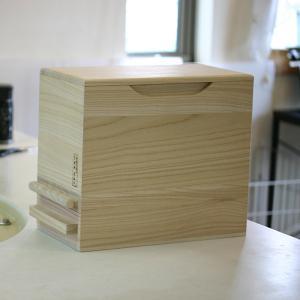 米びつ 桐製 5kg 1合計量 無地 ( 米櫃 ライスボックス ライスストッカー 5kg用 5キロ )|livingut|05