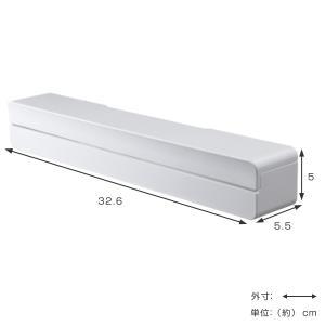 ラップホルダー タワー tower マグネット ラップケース L ホワイト ( キッチン収納 ラップ マグネット式 磁石 キッチン 収納 )|livingut|04