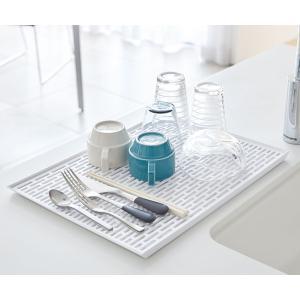 水切りトレー グラス&マグスタンド ワイド タワー tower ホワイト ( 水切りトレイ 水切りマット キッチン用品 ) livingut 05